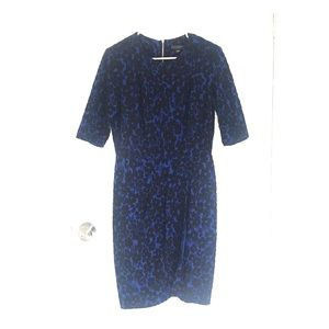 Metaphor size 12 blue and black dress